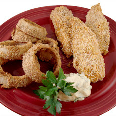 Panko Crusted Fish Sticks With Herb Dipping Sauce