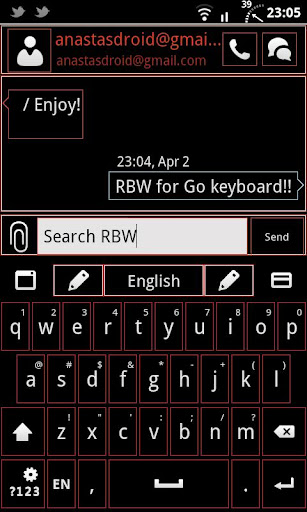 Go Keyboard RBW Theme