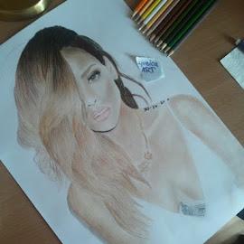 My Drawing, Rihanna by Ljubica Markovic - Drawing All Drawing