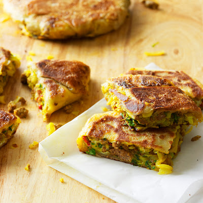 Turnover With Spiced Minced Meat And Cabbage (murtabak)