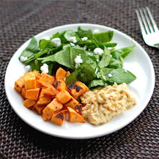 Roasted Sweet Potatoes & Hummus