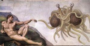 Spaghettimonster und Adam