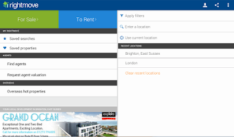 Screenshot of Rightmove Property Search