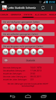 Screenshot of Lotto Statistik Schweiz