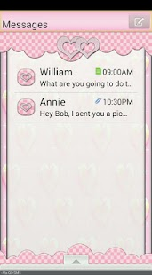 GO SMS THEME/SparkleHearts2 - screenshot