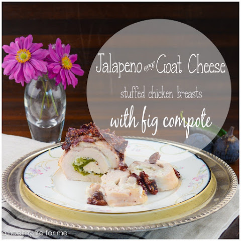 Jalapeño and Goat Cheese Stuffed Chicken Breasts with Fig Compote
