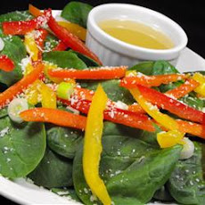 Super Easy Spinach and Red Pepper Salad
