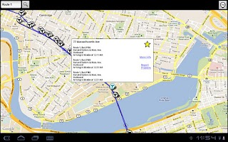 Screenshot of BostonBusMap