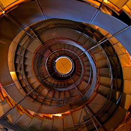 Stiral by Stuart Cochrane - Buildings & Architecture Other Interior ( vertical, stairs, glasgow, lighthouse, spiral )