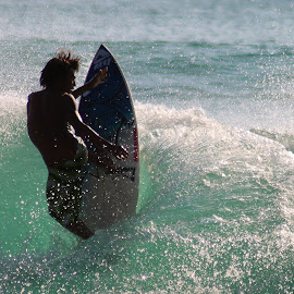 The WAVES MAN by Kho Santosa - Sports & Fitness Surfing ( jumping, surfer, waves, sea, man )