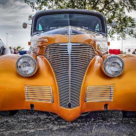 Gold Sedan by Ron Meyers - Transportation Automobiles