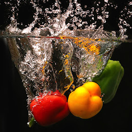 Veg Splash #14 by Rakesh Syal - Food & Drink Fruits & Vegetables ( , red, green )