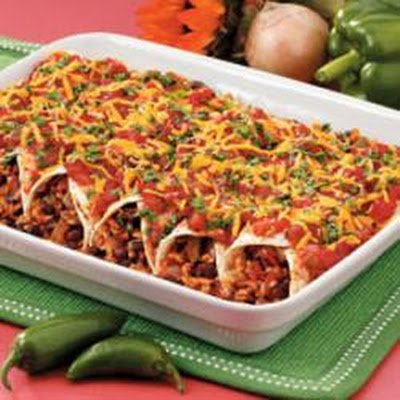 Black Bean and Rice Enchiladas