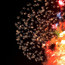 2014 Stampede Fireworks by Jowell Madrilejo - Abstract Fire & Fireworks ( yyc, night photography, calgary, fair ground, stampede )