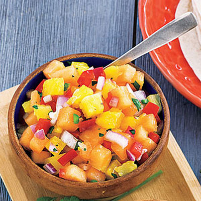 Melon-Pineapple Salsa