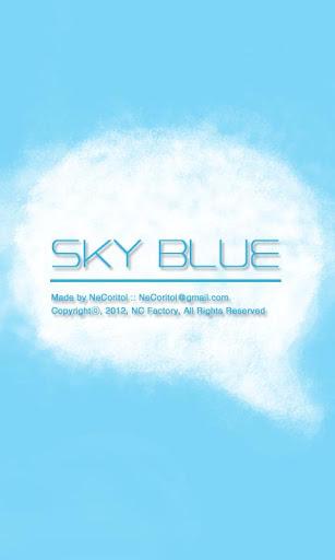 스카이 블루 Sky BLUE 카카오톡 테마