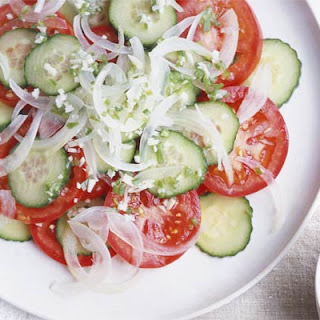 Cucumber Tomato Onion Vinegar Sugar Salad Recipes