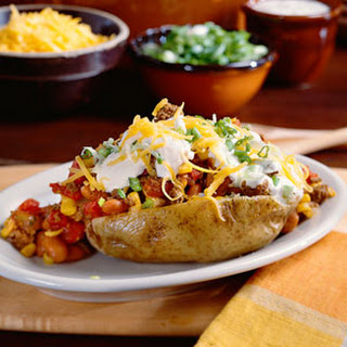 Chili-Topped Potatoes