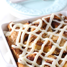 Gooey Cinnamon Roll Baked French Toast