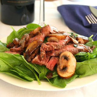 Warm Steak Salad with Mushroom Browned Butter