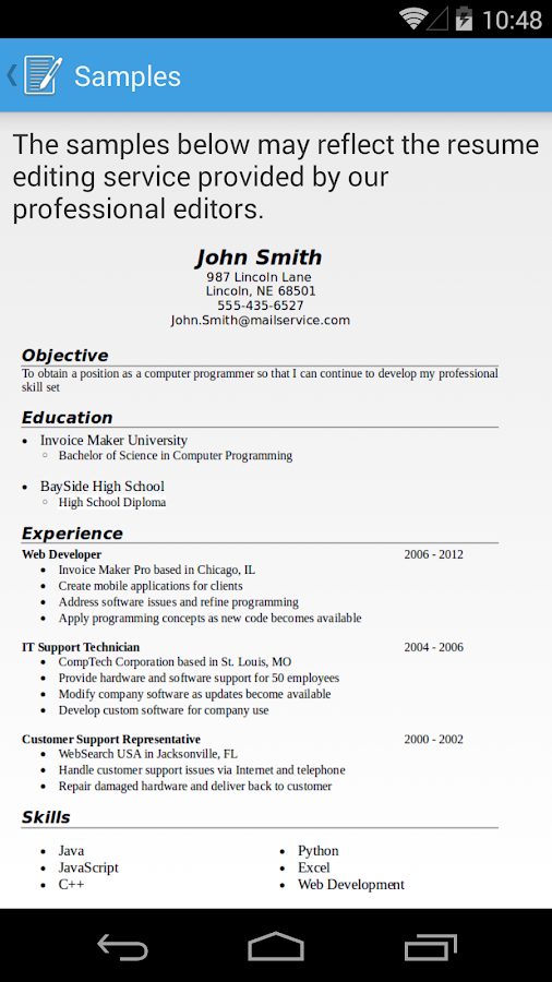 resume builder google 2645