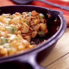 Barbecued Chicken Hash