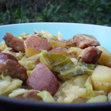Kielbasa, Cabbage and Onions