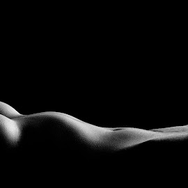Lines of woman by John Einar Sandvand - Nudes & Boudoir Artistic Nude ( low key, silhouette, krakow, artistic nude, lines )
