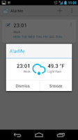 Screenshot of AlarMe - weather aware alarm