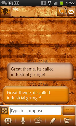 Industrial Grunge Go Sms