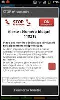 Screenshot of Stop Numéros Surtaxés
