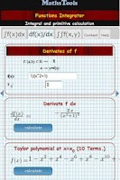 Screenshot of Integral calculator