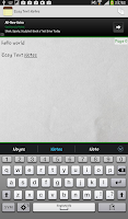 Screenshot of Easy Text Notes