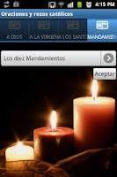 Screenshot of Oraciones y Rezos Católicos