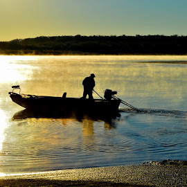 Morning Catch by Kevin Dietze - Transportation Boats
