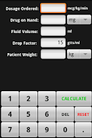 Screenshot of InfusionCalc