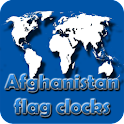Afghanistan flag clocks icon