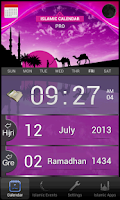 Screenshot of Islamic Calendar (Hijri) Pro