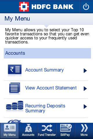 HDFC Bank MobileBanking Screenshot 3