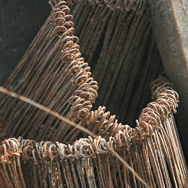 rebar ties by Eric Rainbeau - Artistic Objects Industrial Objects ( metal, dust, rainbeau, construction, .ties, concrete )