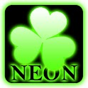 Green neon theme GO Launcher icon