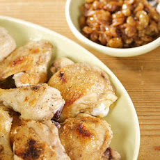Broiled Chicken with Onion and Golden Raisin Chutney