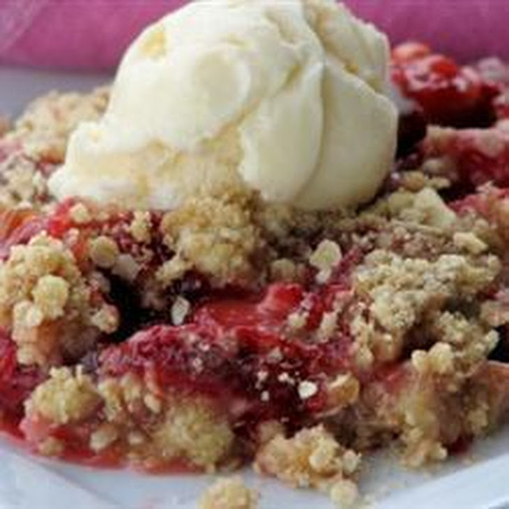 Strawberry Rhubarb Crumble Recipe | Yummly