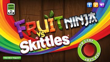 Screenshot of Fruit Ninja vs Skittles