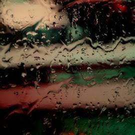 Moments by Dalibor Davidovic - Digital Art Abstract ( water, red, green )