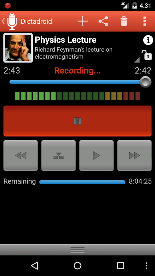Dictadroid Voice Recorder Screenshot 0
