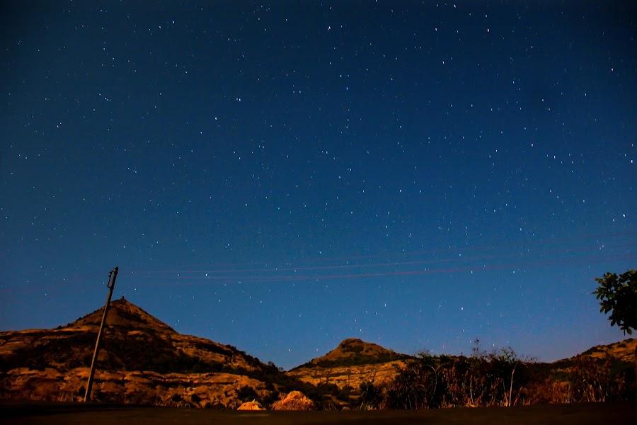 Sky full of stars by Subodh Kesarkar - Landscapes Mountains & Hills ( sky, mountain, blue, sunrise, landscape, photography )