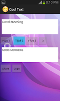 Screenshot of Cool Text زخرفة النص