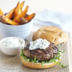 Harissa-spiced Lamb Burgers With Sweet Potato Wedges