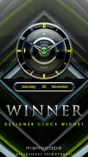 WINNER Designer Clock Widget - screenshot